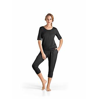 Hanro · Half sleeve top lounge Yoga · · · · · 77994 black ·