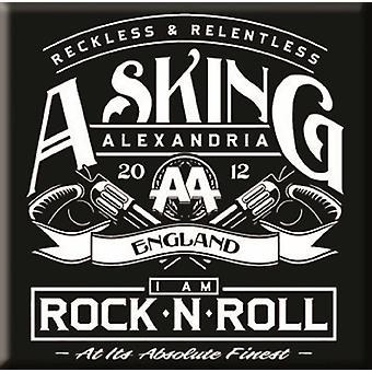 Asking Alexandria Fridge Magnet band logo Rock n Roll new Official 76mm x 76mm
