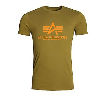 Alpha Industries Basic Crew Neck T-Shirt | Olive