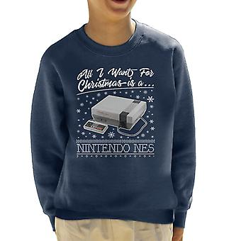 All I Want For Christmas Is A Nintendo NES Kid's Sweatshirt