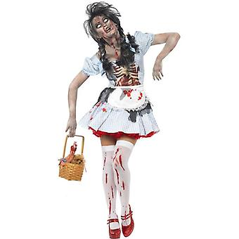 Horror Zombie Dorothy Costume, UK Dress 12-14