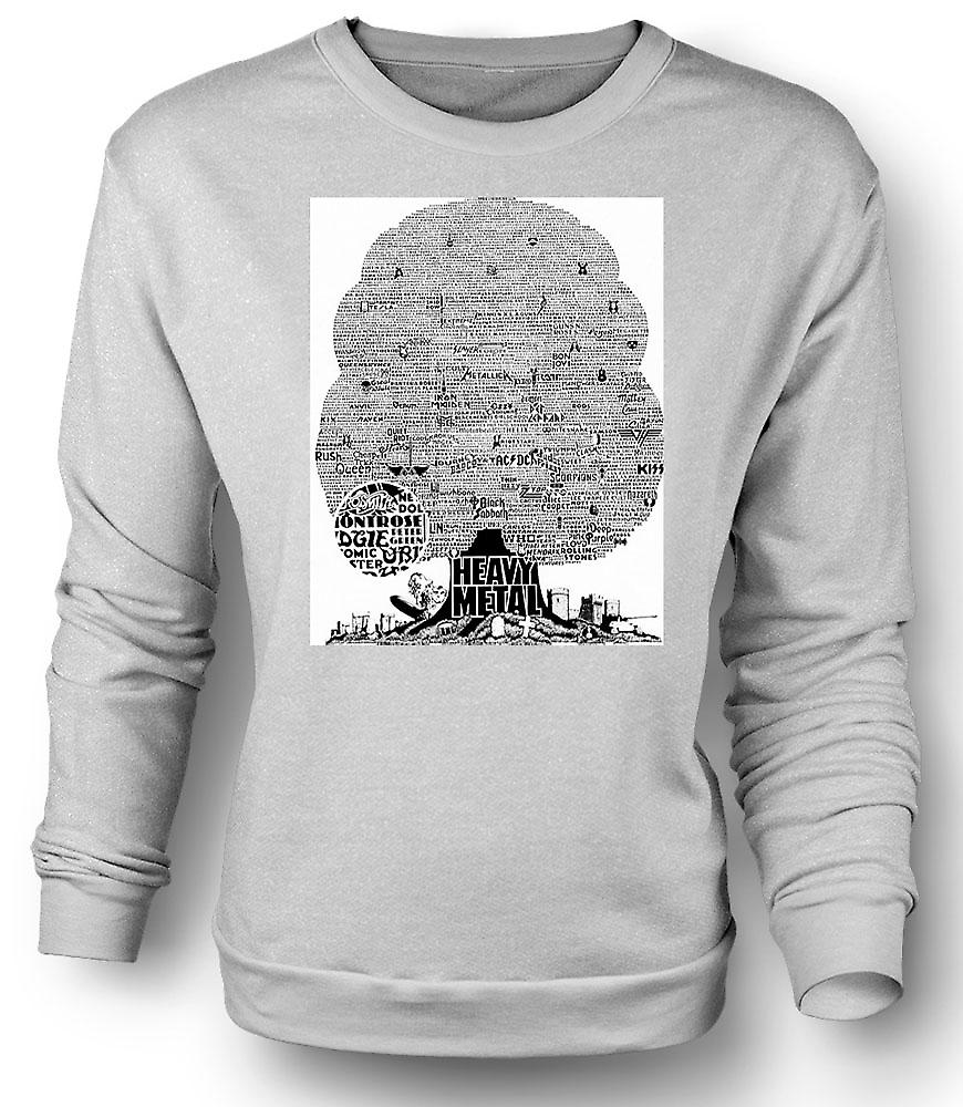 Mens Sweatshirt Heavy Metal - Tree Of Life