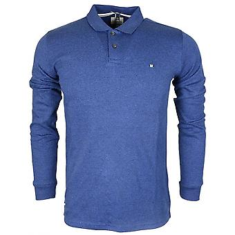 Weekend Offender Joshua Blue Melange Long Sleeve Polo Shirt