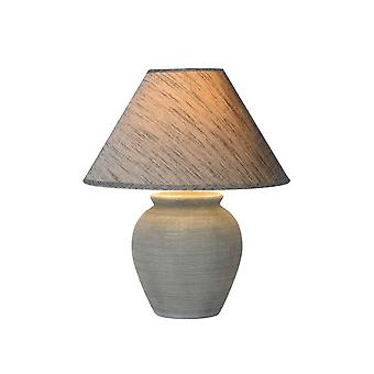 Lucide Ramzi Cottage Round Ceramics Grey Table Lamp