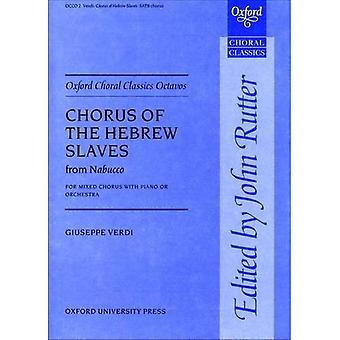 Coro de los esclavos del hebreo de Nabucco: partitura Vocal (Oxford coral clásicos Octavos)