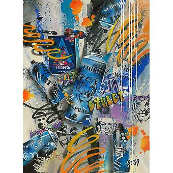 Tiger Graffity Poster Print by Moega