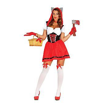 Womens Sexy Little Red Riding Hood Fancy Dress kostuum