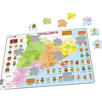 Map of Catalonia/Catalunya - Frame/Board Jigsaw Puzzle 29cm x 37cm (LRS A29-CT))