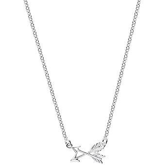 Bella Arrow Drop Necklace - Silver