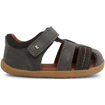 1cf84192e Bobux Step Up Boys Roam Sandals Charcoal Grey