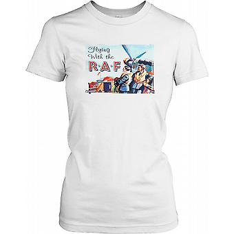 Flying with the RAF Poster Ladies T Shirt
