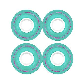 Ricta Teal Crystal Clouds 78A - 56mm Cruiser Wheels