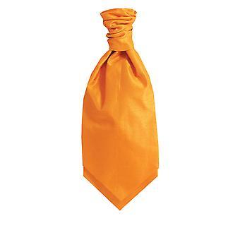 Dobell Orange Dupion Cravat (Pre-Tied & Hand Tied)