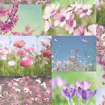 Wallpaper de April Heather rose fleurs Floral Collage Photos luxe Holden