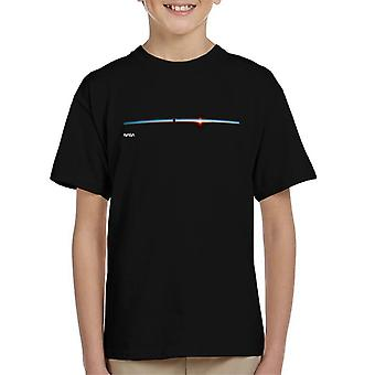 NASA Satellit Horizont Schuss Kinder T-Shirt