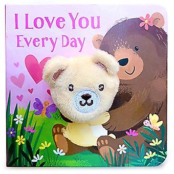 I Love You Every Day Finger Puppet Book [Board book]