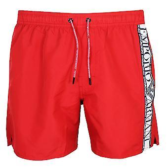 Pantalones cortos rojos de baño emporio armani