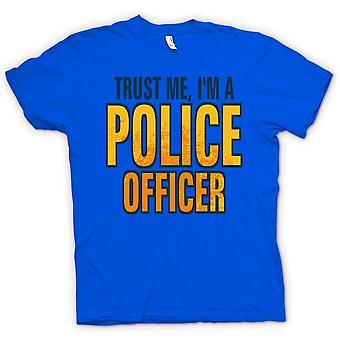 Kids t-skjorte - stol på meg jeg er en politimann - tilbud