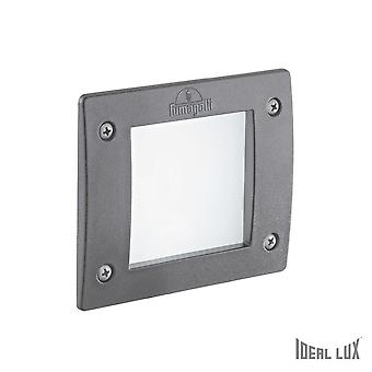 Ideal Lux Leti Square Recessed Spotlight Grey