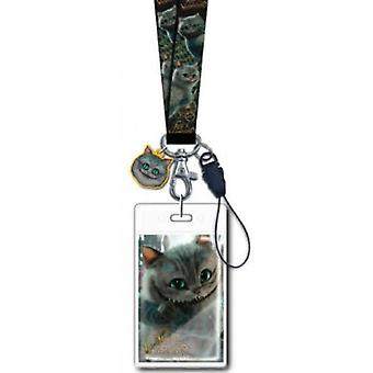 Lanyard - Alice in Wonderland - Chesire Cat w/ Soft Touch Dangle New 25324
