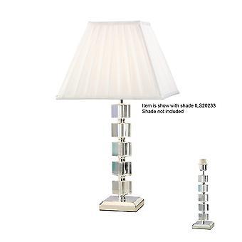 Diyas Alina Crystal Table Lamp Without Shade 1 Light Silver Finish