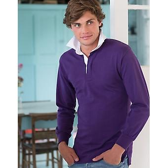 Front row long sleeve plain rugby shirt fr100