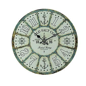 Old Salt Co Weathered Wood Nautical Wall Clock