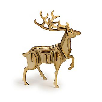 Crafts - proud stag - raw wood model kit