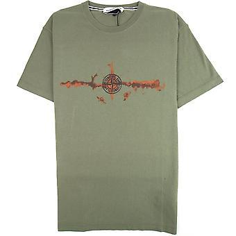 Stone Island Graphic Six Print T-shirt Khaki V058