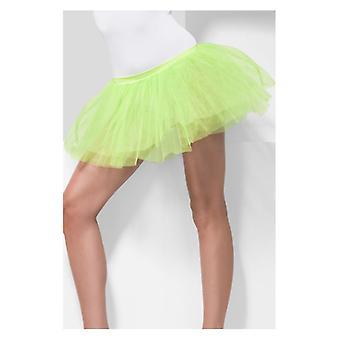Womens Cal Tutu verde Underskirt vestido extravagante acessório