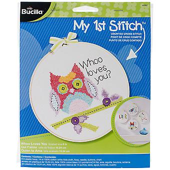 My 1St Stitch Whoo Loves You Mini Counted Cross Stitch Kit 6