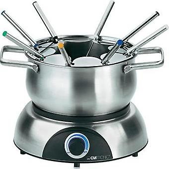 Fondue 1400 W with manual temperature settings Clatronic FD3516 Stainless steel, Black