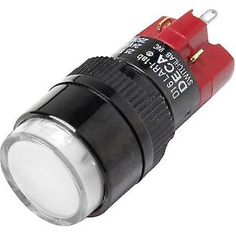 Pushbutton switch 250 Vac 5 A 1 x Off/On DECA D16LAR1-1abAW IP40 latch 1 pc(s)