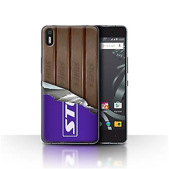 STUFF4 Case/Cover for BQ Aquaris X5/Wrapped Fingers/Sticks/Chocolate