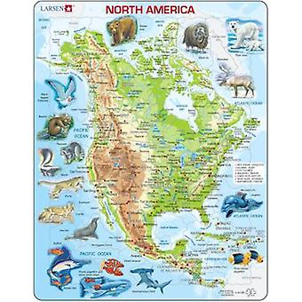 Larsen Puzzle Great North America Fisic (Toys , Boardgames , Puzzles)