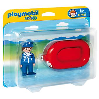 Playmobil Man with Water Raft (Toys , Preschool , Playsets , Vehicles)