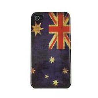 Handyhülle für IPhone 4/4 s-Australien Flagge (Retro)