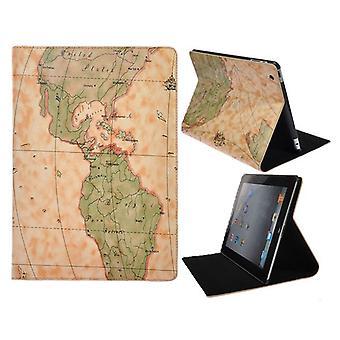 Couverture carte mondiale, prise en charge-iPad 2 et 3