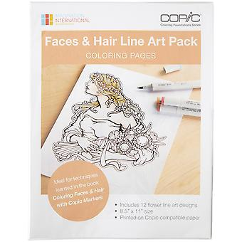 Copic Faces & Hair Art Coloring Pages- CBLA2