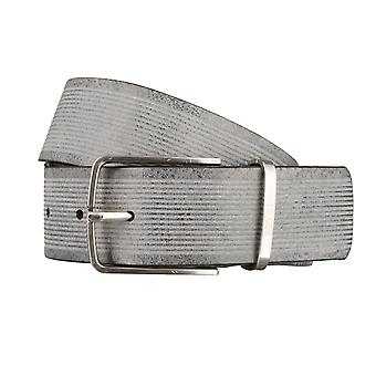 OTTO KERN belts men's belts leather belt suede black/grey 2975