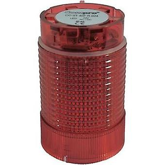 Signal tower component LED ComPro CO ST 40 Red Non-stop light signal, Flasher 24 Vdc, 24 Vac 75 dB