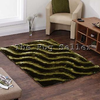 Olympic Hand Made Shaggy Rugs In Green