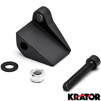 Black Right Motorcycle Mirror Relocation Adapter For Harley Davidson Super Glide 2nd Edition FXR3 1999