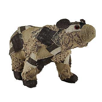 بقع التمثال الزخرفية الدب الخيش المعاد تدويرها
