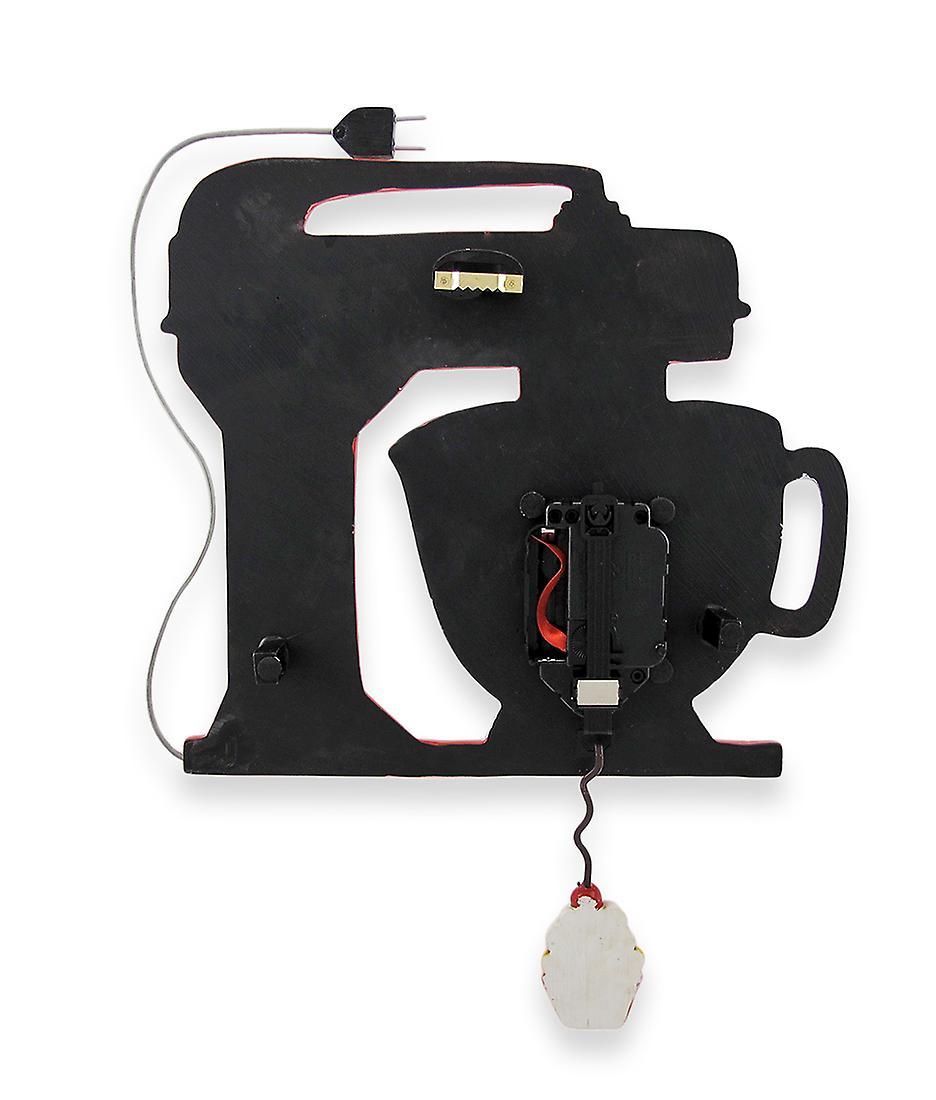 Kitchen Designs Pendulum Red Vintage Clock Cupcake Mixer With Wall Allen u31cFJTKl