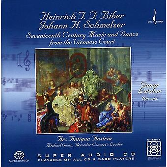 Biber/Schmelzer - Biber, Schmelzer: Syttende århundrede musik og dans fra the Wiener retten [SACD] USA importerer