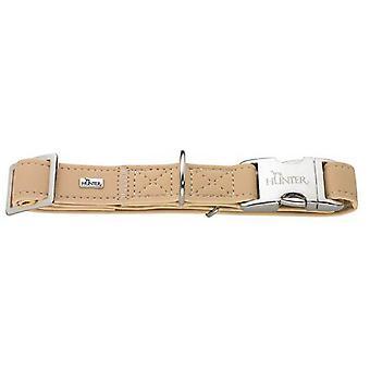 Hunter Softie Alu-strong Nubuck Leather Collar Tan 25mm X 40-55cm