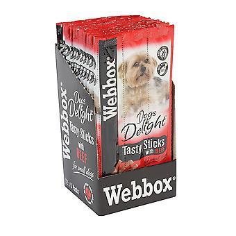 Webbox sej hunde glæde velsmagende hund stikker oksekød 6's (pakke med 12)