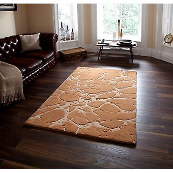 Soft High Quality Beige Cracked Effect Wool Rugs Sorrento 50