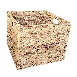 Small Water Hyacinth Square Storage Basket